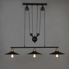 Find More Information about Loft Retro Iron Black Lampshade Pendant Light Vintage Industrial Adjustable Pulley Pendant Lamp E27 Hanging Lamp Light Fixtures,High Quality pulley band,China light chime Suppliers, Cheap light oil from Zhongshan East Shine Lighting on Aliexpress.com