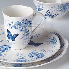 Lenox Blue Butterfly Tea Cup & Saucer