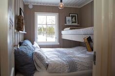 Villa Design, House Design, Tiny Living, Living Spaces, Cozy Bedroom, Bedroom Decor, Swedish Cottage, Cute Furniture, Loft
