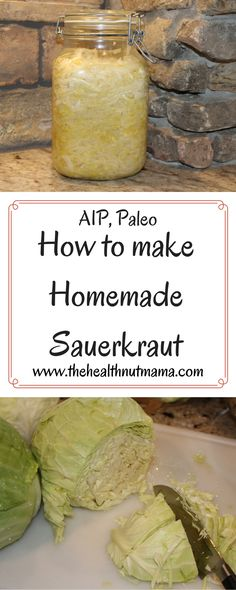 Easy No Pound Sauerkraut Recipe! Best, Cheapest Probiotic Ever! (AIP, Paleo, GAPS) www. Canning Recipes, Paleo Recipes, Whole Food Recipes, Canning Tips, Veggie Recipes, Homemade Sauerkraut, Sauerkraut Recipes, Best Probiotic Foods, Fermented Foods