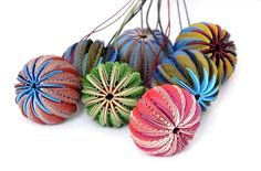 Pendants made from paper