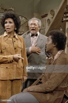 SON 'A Visit from Lena Horne' Episode 16 Aired 1/12/73 Pictured Lena Horne as Herself Redd Foxx as Fred G Sanford Demond Wilson as Lamont Sanford...