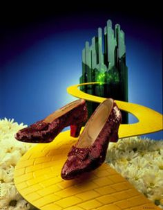 dorothy's magic slippers from wizard of oz