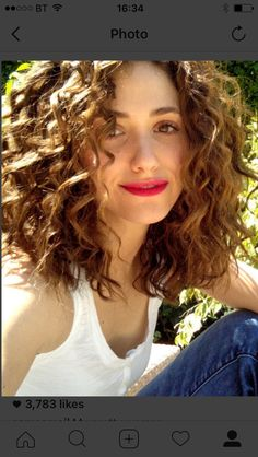 Emmy Rossum with curly hair!