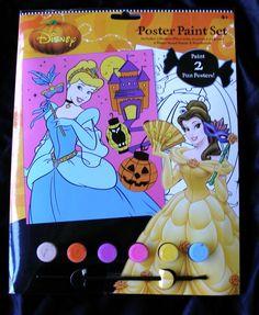 Halloween Disney Princess Poster Paint Set Cinderella Belle