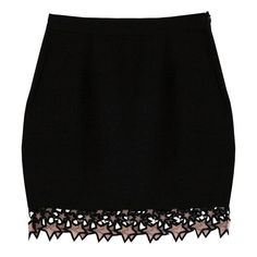 Fleur du Mal Galaxy Lace Mini Skirt ($545) ❤ liked on Polyvore featuring skirts, mini skirts, black, short, fleur du mal, mini skirt, short miniskirt, lacy skirt and short skirts