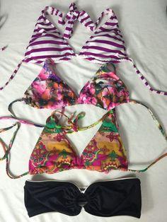 Women's Bikini Top Lot of 4 Size Small Juicy Couture Mossimo Xhilaration Swim B7 | eBay
