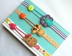 Pick ANY 2 Bookmarks Elastic Ribbon Elastic by BabyWhatKnots
