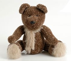 Knitted, cuddly teddy bear