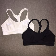 2 Champion sports bras Some pilling on the white one. 34B. Strong support. Champion Intimates & Sleepwear Bras