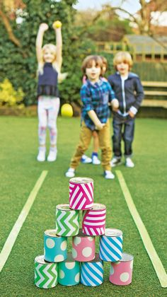 The whole family will love to play with this outdoor bowling alley at Easter