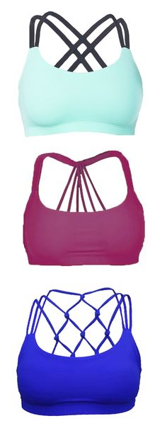 Yoga post on These sports bras are soo cute!...