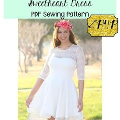 Sweetheart Dress with instructions for overlays