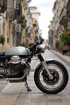 Italian Moto Guzzi custom
