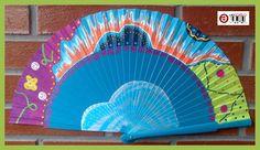 Abanico pintado a mano.  http://talentox2.blogspot.com.es/ http://facebook.com/abanicosairedecolor
