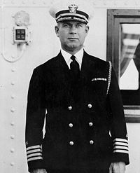 Rear Admiral Isaac Cambell Kidd, (1884-1941). Was killed on the bridge of USS Arizona during the Japanese attack on Pearl Harbor. He became the first U.S.Navy Flag Officer killed in action in WWII.