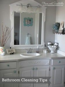 Quick and Easy Bathroom Cleaning Tips {The Household Organization Diet} - Clean and Scentsible