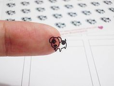 CLEAR Dog Planner Stickers, Pet, Animal, Erin Condren Planner Stickers, Happy Planner Stickers, Clear Planner Stickers, Transparent (st308#) by CENTERPATCH on Etsy