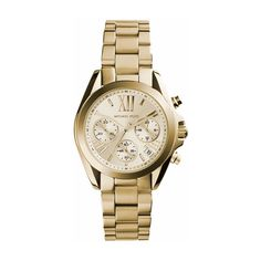 Michael Kors Watches, Bradshaw Watch Gold-Tone (313,355 KRW) ❤ liked on Polyvore featuring jewelry, watches, gold, studded jewelry, analog wrist watch, gold tone jewelry, michael kors and goldtone jewelry