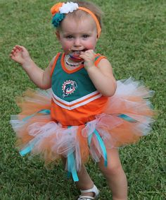 MIAMI Dolphins Tutu and Headband Set, Dolphins Football Set, Miami Dolphins Outfit, Football Tutu, Dolphins Headband Set, Ages Newborn-3T on Etsy, $30.00