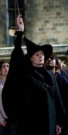 Minerva McGonagall - about to make sparks fly.