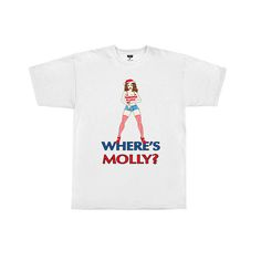 Where's Molly - Mens White T-shirt