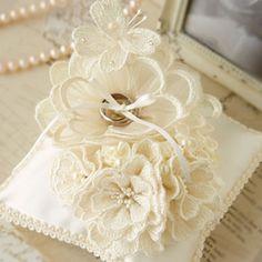 リングピロー〔大きなお花とブーケ〕手作りキット|結婚式演出の手作りアイテム専門店B.G.