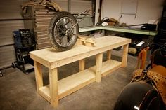 With a couple modifications, this would be a great addition to the garage for motorcycle construction.