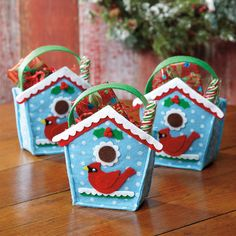 Birdhouse Felt Treat Bags @ Current Catalog