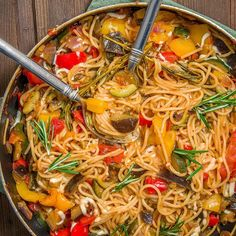Recipe Ratatouille Pasta vegan always hungry A lot of delicious vegetables and spaghetti what more could you want This recipe was already a Pasta Recipes, Keto Recipes, Vegetarian Recipes, Dinner Recipes, Cooking Recipes, Healthy Recipes, Vegetarian Lifestyle, Vegan Vegetarian, Ratatouille Pasta Recipe