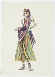 Costume design for Pageant of Empire [Oriental dancer] - Collections Online - Museum of New Zealand Te Papa Tongarewa