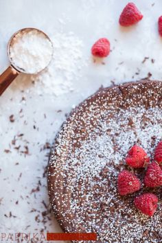 A flourless chocolate torte makes the perfect conclusion to a romantic Valentine's Day meal