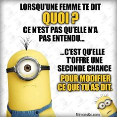 Afficher l'image d'origine Minion Jokes, Minions Quotes, Lol, Citation Minion, Image Fun, Good Humor, I Love To Laugh, Life Lessons, I Laughed