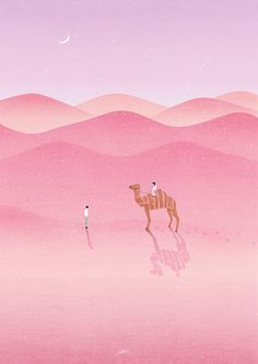 inspiration for masked and sponged landscape lines . desert scene in pinks . stamped camel with shadow . Art Painting, Illustrations And Posters, Illustrations Posters, Travel Art, Art Drawings, Drawings, Illustration Art, Art, Art Wallpaper