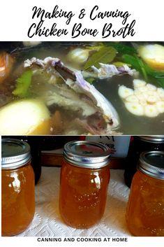Chicken or Turkey Bone Broth Canning Recipes, Chili Recipes, Soup Recipes, Chicken Bones, Cook At Home, Bone Broth, Homemade Food, Chowder, Stew