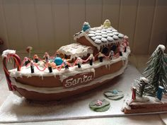 gingerbread house boat