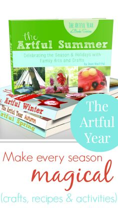 "*Fantastic 4 Seasons eBook Bundle* Here is an **amazing** bundle of ebooks from the wonderful The Artful Parent. Making art and activities with her kids fun and ""do-able"", with very pretty and attractive results too. She has created these amazing ebooks - one for each Seasons - Spring, Summer, Autumn & Winter. And they are a fantastic resource to dip in and out of at your leasure (or print your most favourite pages)."