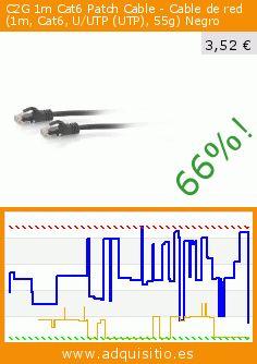 C2G 1m Cat6 Patch Cable - Cable de red (1m, Cat6, U/UTP (UTP), 55g) Negro (Electrónica). Baja 66%! Precio actual 3,52 €, el precio anterior fue de 10,43 €. http://www.adquisitio.es/fabricado-marca/cablestogo-1m-cat6-patch