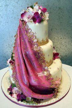 gâteau de marriage Indien / Indian wedding cake