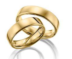 Par de Alianças Ferrara ♥ Casamento e Noivado em Ouro 18K - Reisman - Reisman…