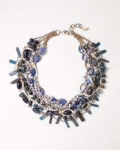 Vintage sparkle bib necklace - [K10415]