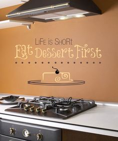 Take a look at this Brown 'Life is Short' Wall Decal by Sissy Little on #zulily today!