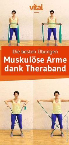 Definierte Arme dank Theraband - entdecke die besten Übungen! #fitness #bodyforming