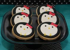 Cookies at a Penguin Party #penguin #partycookies