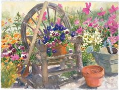 Judy Buswell painting