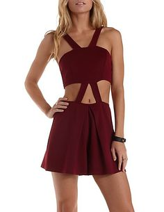 Strappy Cut-Out Romper #CharlotteRusse #CharlotteLook #jumpsuit