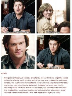 "Dean and Sam Winchester character analysis from spn. Taken from tumblr.  I think this is ""reading to much"" in a single freaking line....."