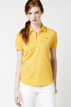 Lacoste Short Sleeve Supple Pique Pleated Polo : Short Sleeve