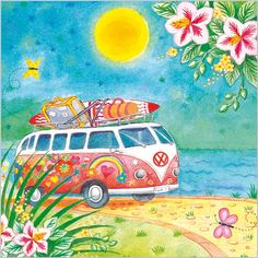 #volkswagen #hippies #colorful #furgoneta
