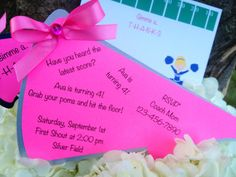Cheerleading party cheerleader party by TakeitPersonallybyM, $20.00